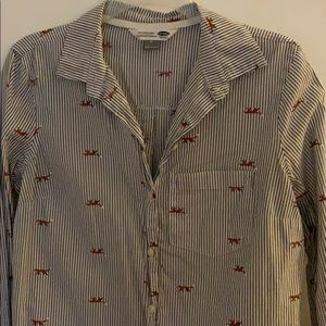 Old navy fox button up